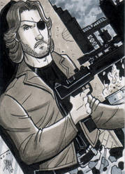 Snake Plissken Charity Sketch Card Auction by calslayton
