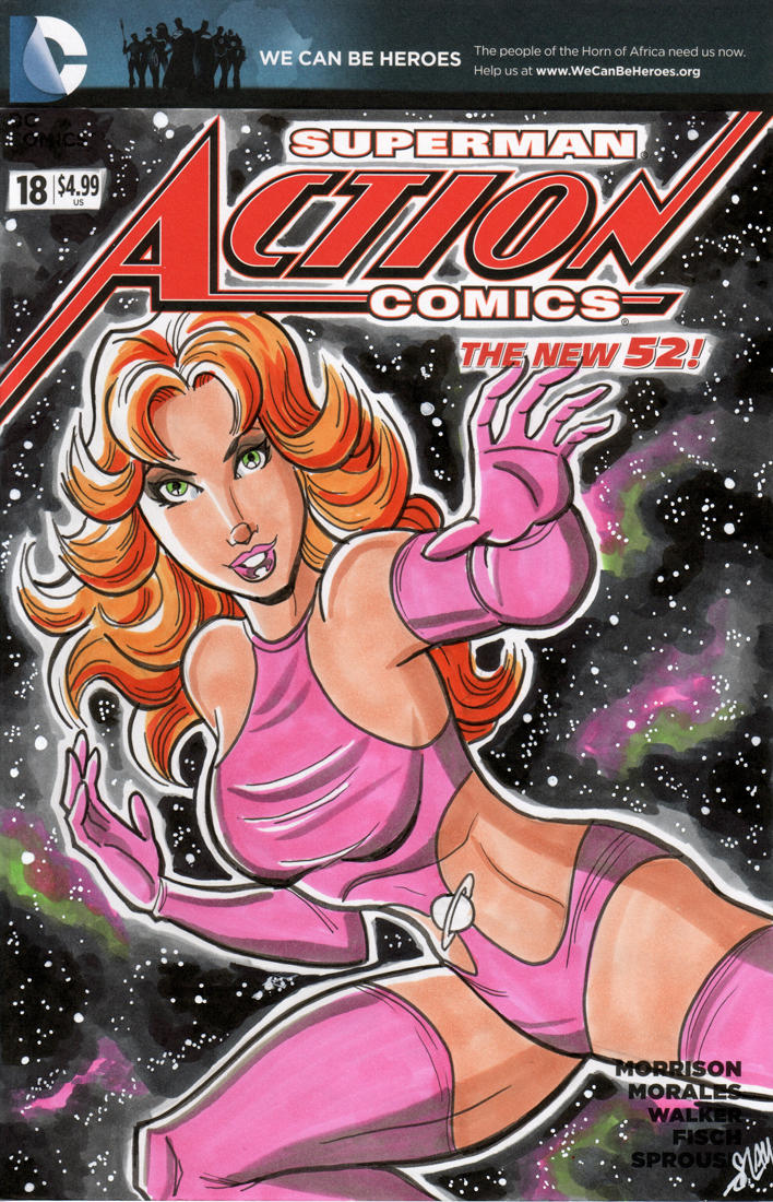 Saturn Girl Sketch Cover by calslayton