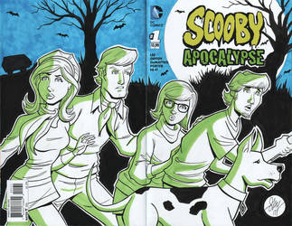 Scooby Doo Sketch Cover by calslayton