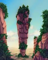 The Ancient Pillars by EmeraldandBronze