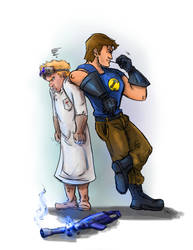 It's curtains for you Dr. Horrible! by nma-art