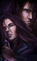 Vampire Academy Rose and Dimitri by nma-art