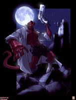 Skottie Young Hellboy by dcjosh