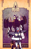 BOTCON exclusive Chromedome Rewind print by dcjosh