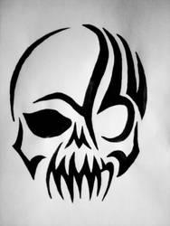 Tribal Skull by G-Fication