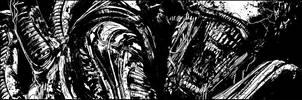 Aliens: Defiance #2 panel by T-RexJones