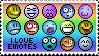 'I Love Emotes' Stamp. by ECC500
