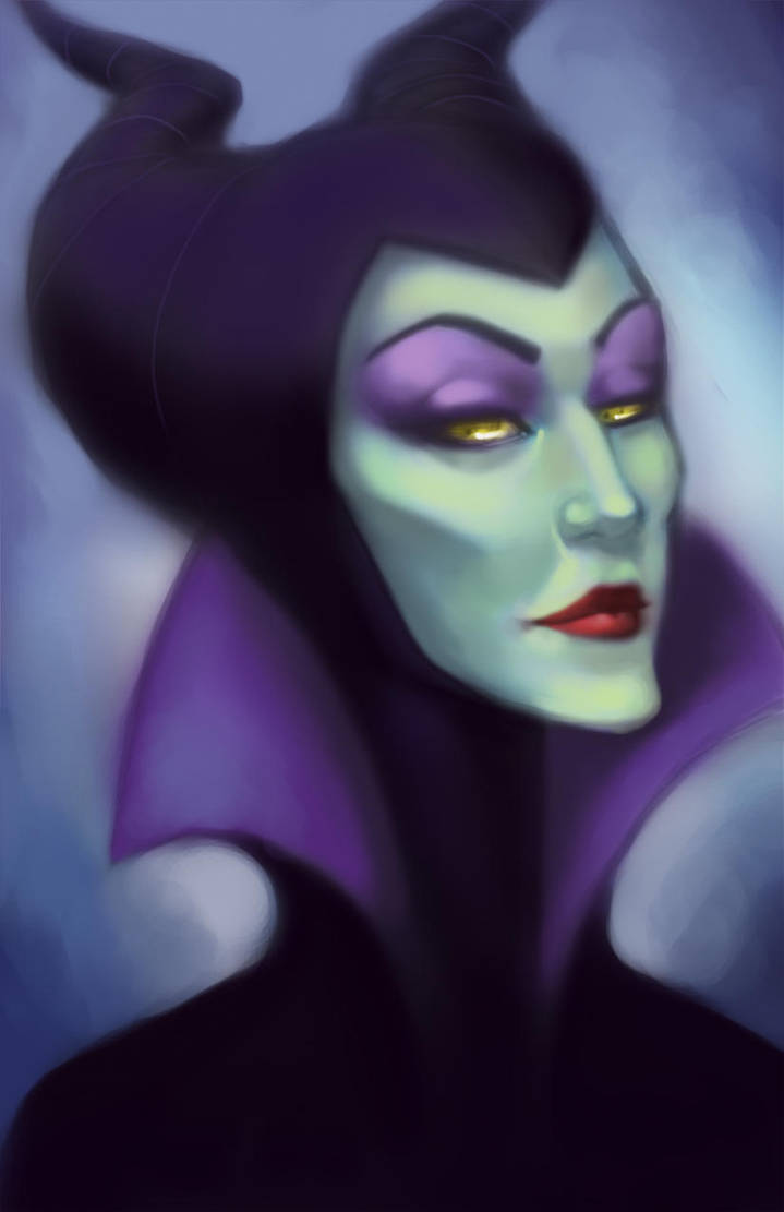 Maleficent Repaint by Down-The-Stairs
