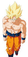 Goku Ssj by andrewdragonball