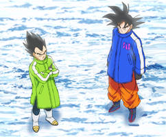 Goku and Vegeta New Movie by andrewdragonball