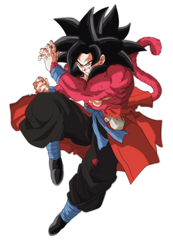 Goku Xeno Ssj4 by andrewdragonball