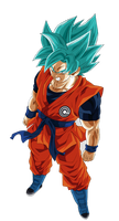 Goku Heroes Ssj Blue by andrewdragonball