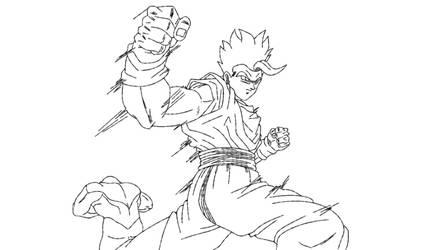 Gohan Blanco VS Jiren by andrewdragonball