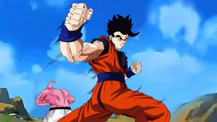 Gohan VS Super Buu by andrewdragonball