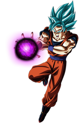 Goku Ssj Blue Hakai by andrewdragonball
