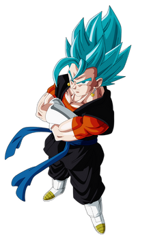 Vegetto Heroes Ssj Blue by andrewdragonball