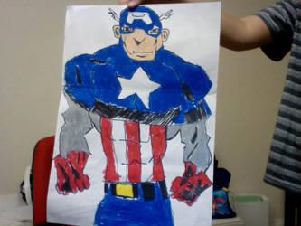 captain america by epicninjaskillz