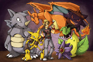 Ben's butt-whoopin' Pokemon squad by cowgirlem