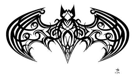 Tribal Batman by mercurianangel