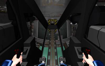Destron Gundam Narumi Custom Cockpit view by deviantoptimus