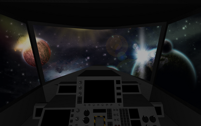 Destron Gundam Cockpit View by deviantoptimus