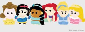 Disney Princesses by iHeaz