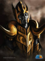 Aries Gold Saint by sixfrid