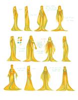 priest/priestess outfit designs by hazumonster
