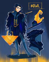 Modern Day Ghibli - Howl - night time by hazumonster