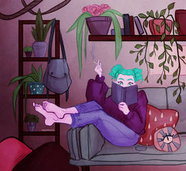 lazy afternoon by hazumonster