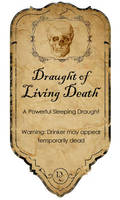 Draught of living Death label by KateBloomfield