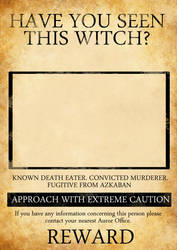 HARRY POTTER INSPIRED WANTED POSTER by KateBloomfield