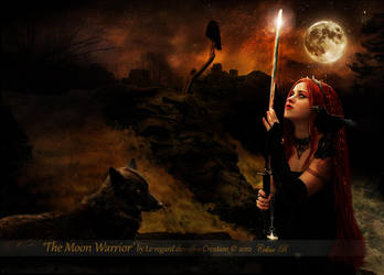 The Moon Warrior (full view) by Le-Regard-des-Elfes