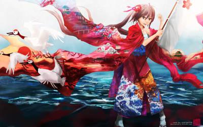 Six for Tea- Ganbare Nippon by tsunoh