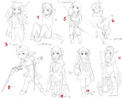 Chibis draft batch1_3-11 by tsunoh