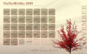 NaNoWriMo Calendar 2009 by Kiriska