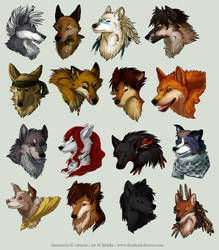 Avatar Commission Batch 8 by Kiriska