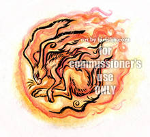 Commission - Year of the Fire Rabbit by Kiriska