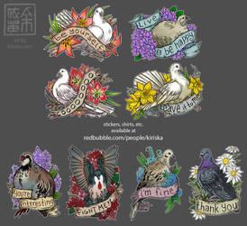 Birds and Flowers by Kiriska