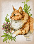 Commission - Ruki and Passion Flower by Kiriska