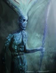 Old alien warrior by BramLeegwater