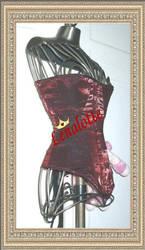 Red edwardian Corset by lenalotte