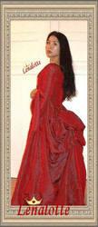 Bustle Gown 'Dracula' by lenalotte