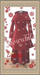 SnowWhite Coat, Skirt and Cape by lenalotte