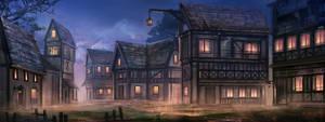Medieval Town by Eru17