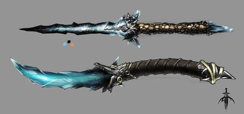 Ice Daggers by exanju