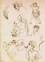 Aug. '13 sketchdump: lizard alchemy, et al. by emera