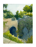 Weeklyish Watercolor 1: Fort St. Washington Park by emera