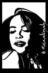 aaliyah by artgyrl