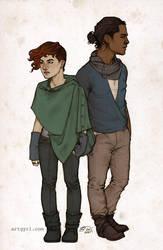 robyn + marian by artgyrl